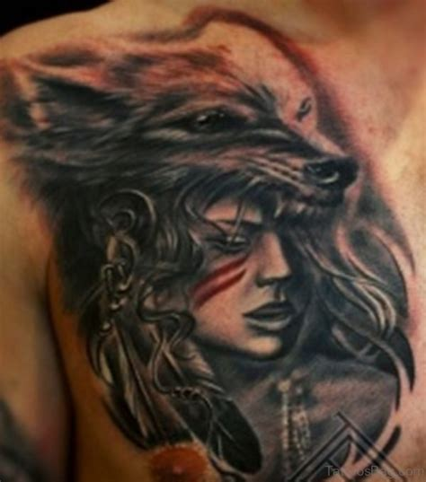 wolf chest tattoo 50 magnificent wolf tattoos for chest