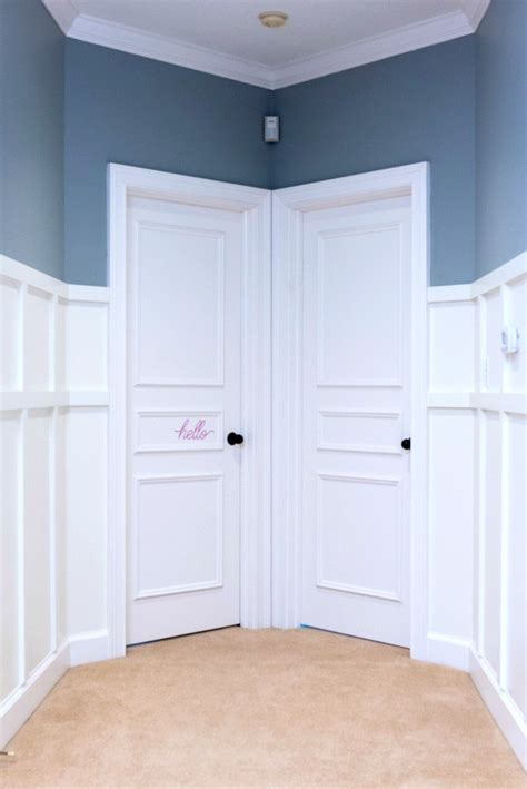 Adding Wainscoting by Adding Wainscoting Doors Marvelous Woodworking