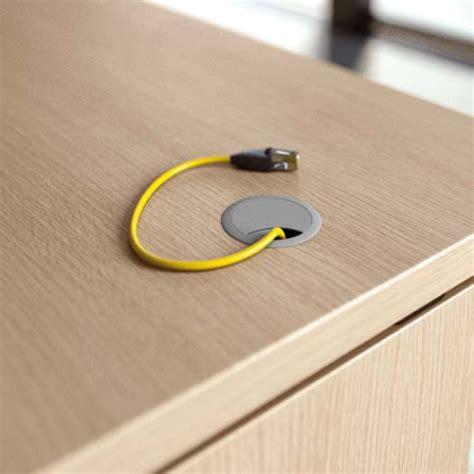 passacavi per scrivania tappo passacavi circolare per piani in legno
