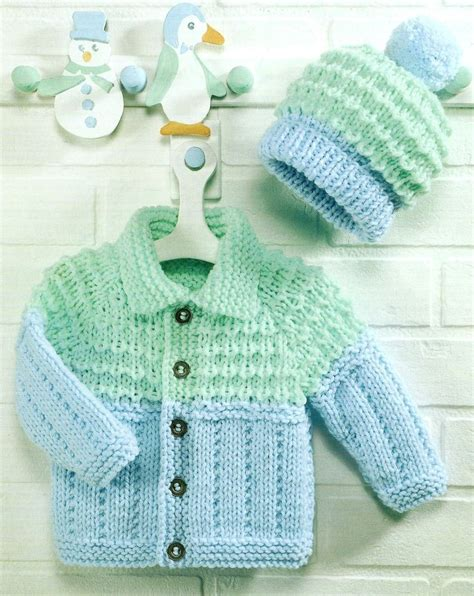 chunky free knitting patterns baby knitting pattern chunky jacket and hat 18 26 quot 124 ebay