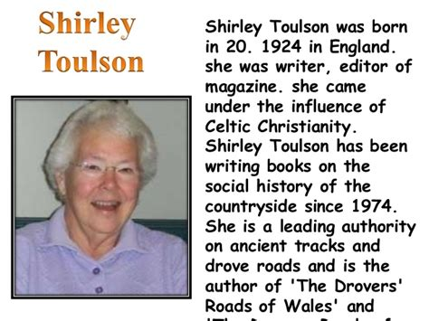 biography of english poet shirley toulson a photograph shirley toulson
