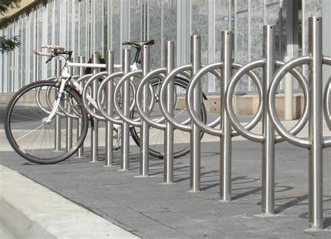 Dero Racks by Dero Bike Hitch Post And Ring Style Bicycle Rack