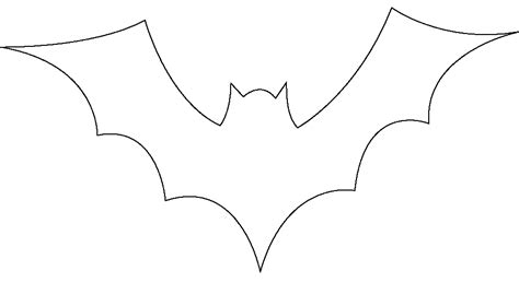 bat templates pin bat stencil outline version on