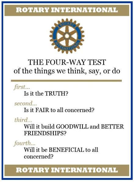 our four way test
