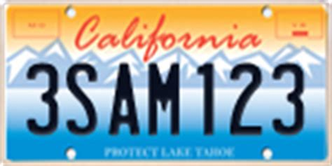 california special interest license plates