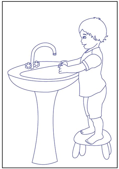 washing coloring sheet free coloring pages of handwashing 18330 bestofcoloring