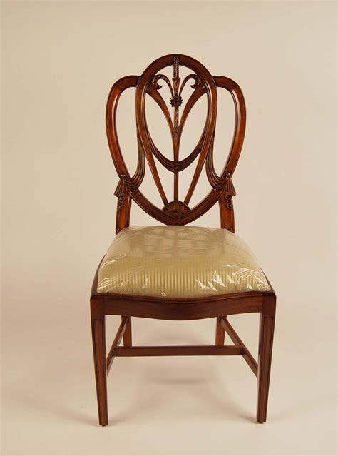 mahogany dining room chairs mahogany shield back dining room chairs sweetheart ebay
