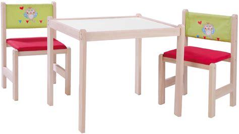 stuhl und tisch für kleinkinder kinder sitzgruppe mit kindertisch tisch und 2 st 252 hlen