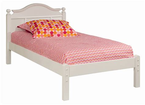 bed with low headboard and low footboard