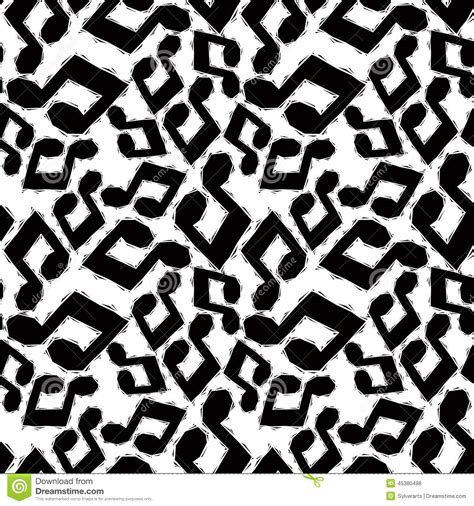 black and white alabama pattern modello senza cuciture nero delle note musicali in bianco