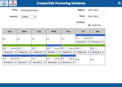 Child Custody Calendar