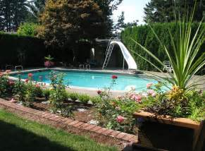 swimming pool landscaping ideas landscaping ideas for inground swimming pools pool design ideas
