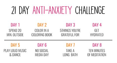 21 Day Anxiety Challenge   Love and Marriage