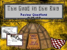 the goat in the rug comprehension test ah review task cards for houghton mifflin journeys