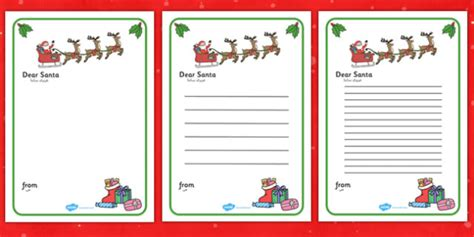 Letter To Santa Template Arabic Translation Arabic Letter Letter To Santa Template Ks1