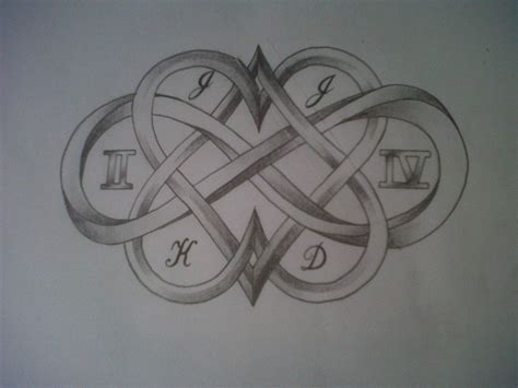 infinity tattoo designs with initials initials in infinity heart tattoos tattooshunt com