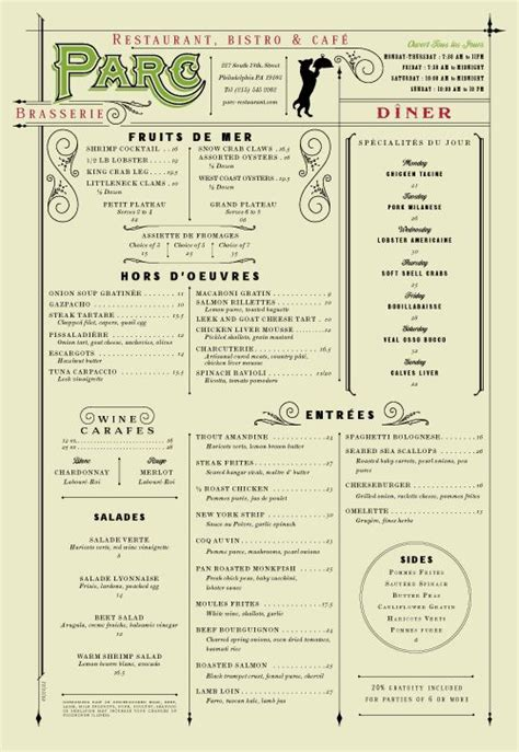 Commerce Kitchen Menu by 30 Best Images About Menu Design Inspiration On