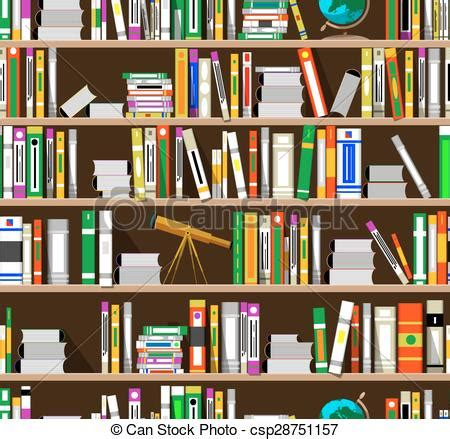 svg pattern library clipart vector of cartoon bookshelves in the library