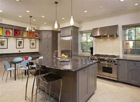 Gray Kitchen Appliances by Grey Kitchen Cabinets With Stainless Appliances Home