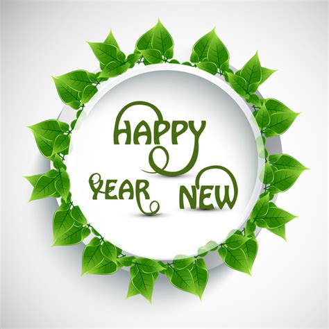 new year color green happy new year text lives green color vector free vector