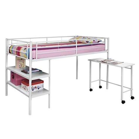 loft bed shelf twin loft bed with desk and shelves in white btld46spwh