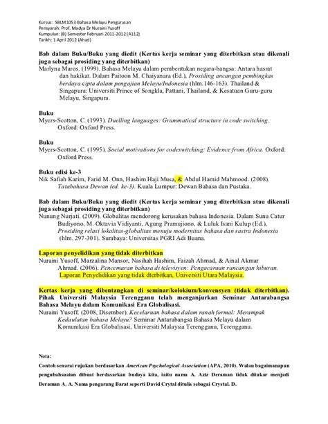 format penulisan novel malaysia contoh penulisan rujukan apa