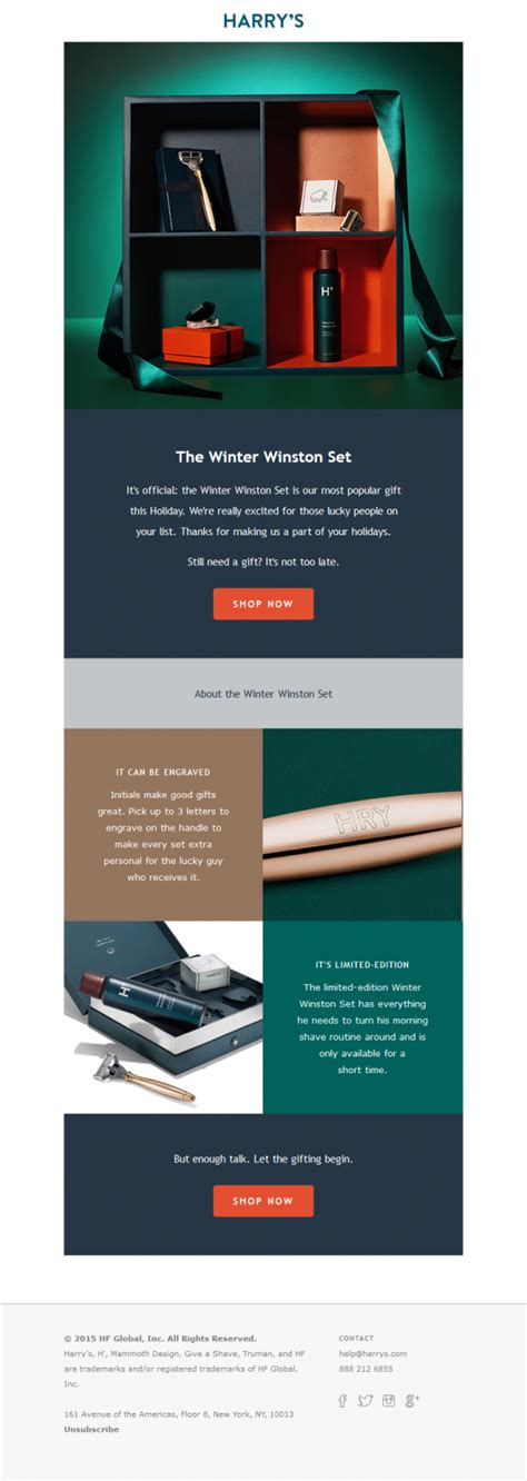 13 Of The Best Exles Of Beautiful Email Design Email Marketing Templates 2018