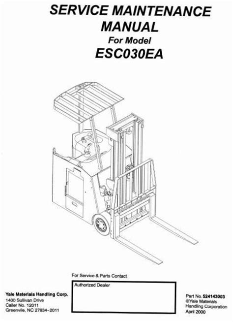 YALE FORKLIFT MANUAL GLP050 - Auto Electrical Wiring Diagram