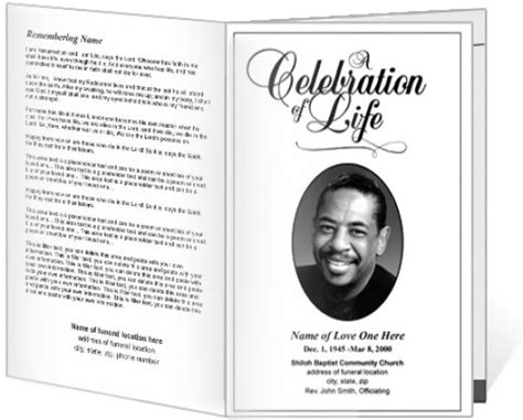 memorial program templates best photos of funeral service program template sle