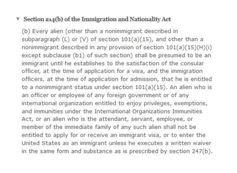 what is section 214 b for us visa виза в сша отказ в выдаче визы сша причины для отказа в