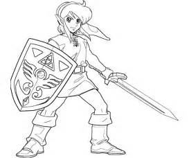 link coloring pages smash bros coloring pages