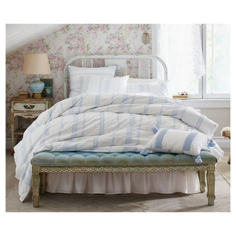 white bohemian embroidered duvet cover set full queen 3