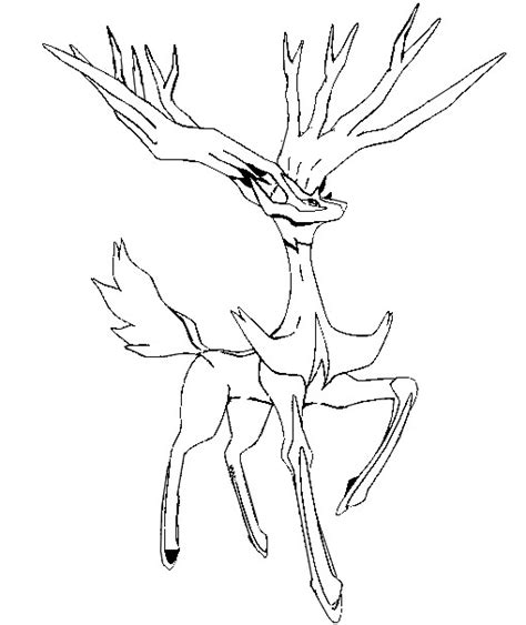 Free Coloring Pages Of Xerneas