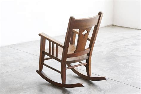 Oak Rocking Chairs by Craftsman Era Child S Rocking Chair Solid Oak For Sale At