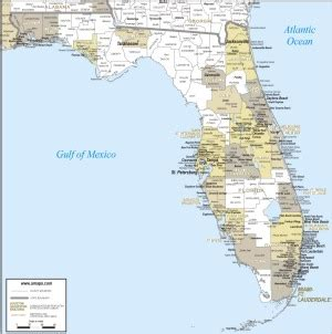 florida state map to print