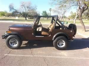 brown jeep cj7 1986 jeep cj7 new brown original color paint az rust free