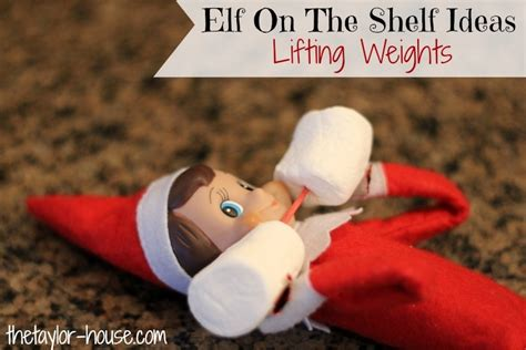 Buy A On The Shelf by On The Shelf Lifting Weights Elfontheshelf The