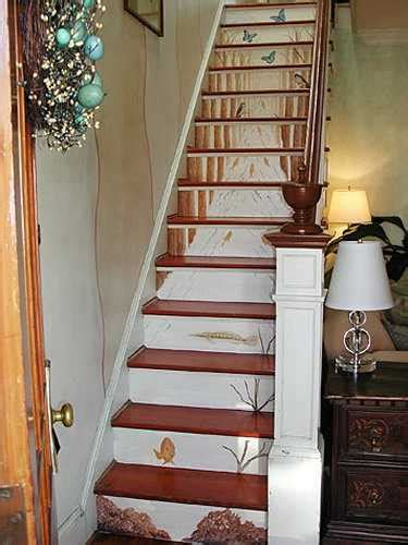stairway decorating ideas staircase painting ideas transforming boring wooden stairs