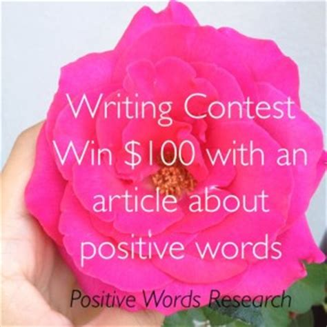 Writing Contests Win Money - writing contest win 100 with an article about positive words