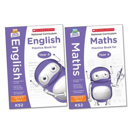 libro national 4 maths practice national curriculum practice pack english and maths year 4 scholastic shop