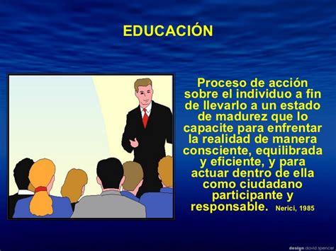 Que Es Un Mba En Educacion by Educaci 243 N Definici 243 N Concepto