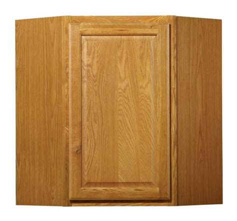 menards value choice cabinets value choice 24 quot huron oak diagonal corner wall cabinet at