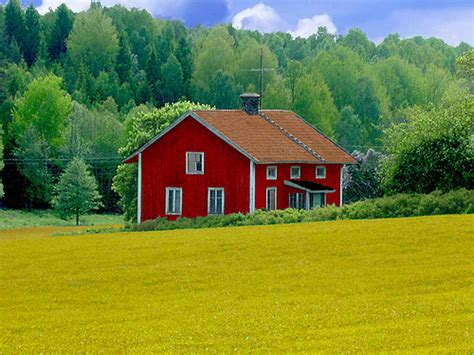 Landscape Pictures Around House Abandoned Wooden House In Swedish Landscape A Photo On