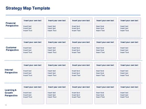 Strategy Map Template Balanced Scorecard Template By Ex Mckinsey Strategy Map Template Excel