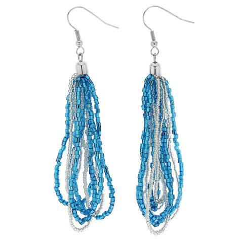 murano earrings gloriosa seed bead murano earrings