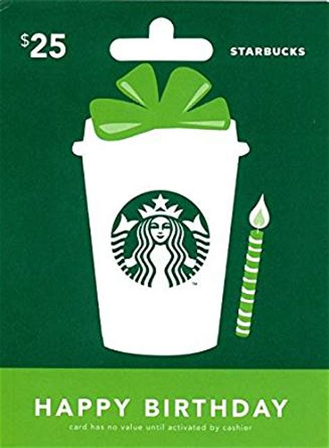 Redeem Starbucks Gift Card - amazon com starbucks happy birthday gift card 25 gift cards