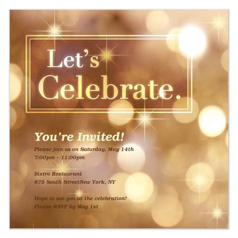 Let's Celebrate, Invitations & Cards on Pingg.com