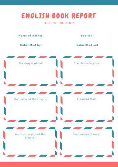 blue book report design templates canva