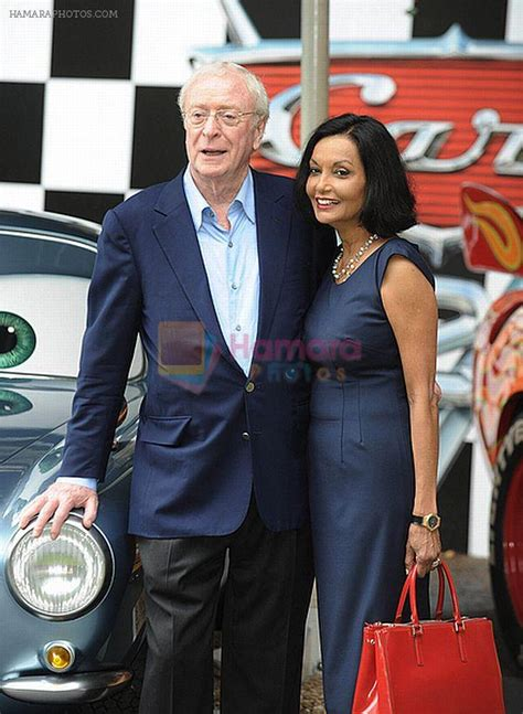 michael whitehall and wife michael caine and wife shakira caine at cars 2 uk premiere