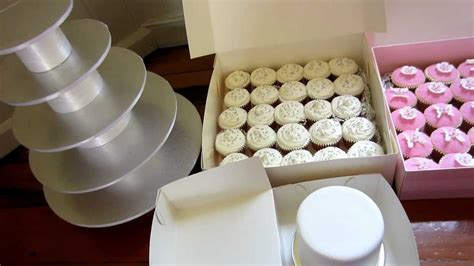 Wedding Cupcake Stand & Top Cake Ready To Set Up   YouTube